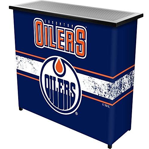 Trademark Gameroom NHL Edmonton Oilers Portable Bar with Case (Edmonton Furniture Clearance)