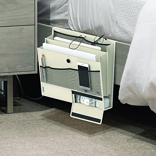 Mindfull Products Bedside Caddy, 7 Storage Pockets with Power Strip Compartment, ()