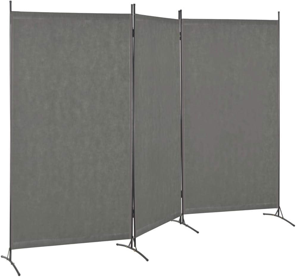 vidaXL Biombo Divisor de 3 Paneles 260x180 cm Hogar Interior Exterior Muebles Decoración Diseño Bricolaje Mobiliario Separador Espacios Gris Antracita: Amazon.es: Hogar