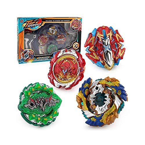 Bey Burst Evolution Starter Battling Top Fusion Metal Master Rapidity Fight with 4D Launcher Grip Set(4 in 1)