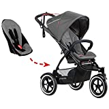 phil&teds Sport Inline Stroller - Second Seat Included (Graphite)