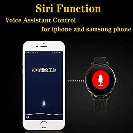 Amazon.com: V360 Round smartwatch Bluetooth 4.0 Smart Watch ...