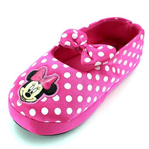 Disney Minnie Mouse Scuff 207 Slipper (Toddler/Little Kid), Pink, X-Large (11/12 M US Little Kid)