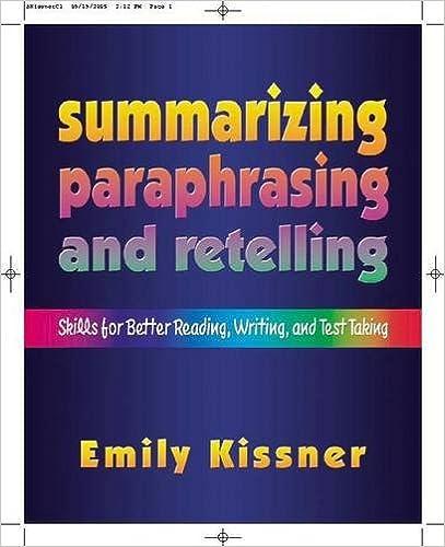 Amazon.com: Summarizing, Paraphrasing, and Retelling: Skills for ...