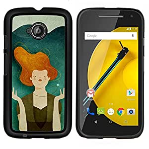 Stuss Case / Funda Carcasa protectora - Teal Naranja Paz para el Medio Ambiente - Motorola Moto E ( 2nd Generation )