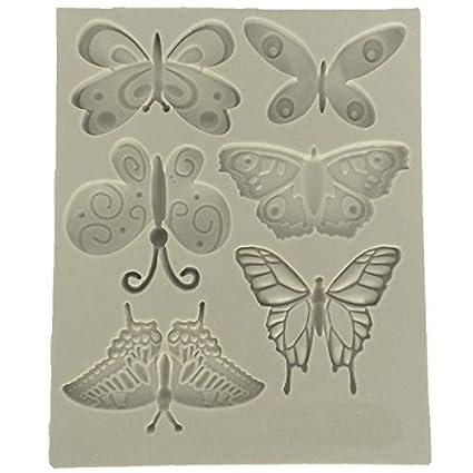 musykrafties mariposas CANDY Fondant Molde de silicona para tarta DECORACIÓN,cupcake decoración,Polímero Flexible