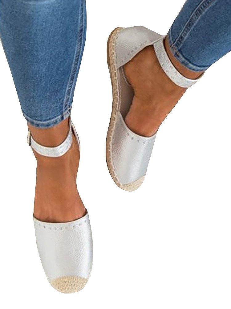 0e5d6dcc0a0132 Amazon.com  Shele Womens Tie Up Flat Espadrilles Sandals Suede Strap Ankle  Wrap Classic Lace Up Shoes  Clothing