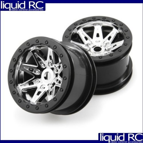 Axial Racing  AX08137 2.2 Raceline Renegade Wheels  41mm Wide (chrome black) (2pcs) for Axial AX10 Deadbolt by Axial Racing