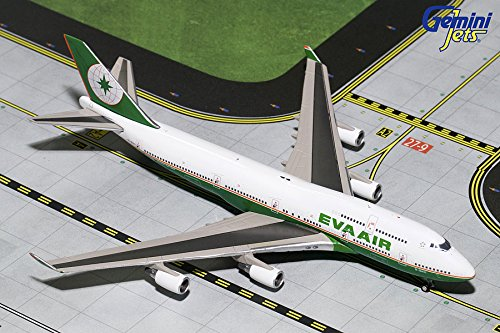 GEMGJ1694 1:400 Gemini Jets EVA Air Boeing 747-400 (Final Flight) REG#B-16411 (pre-painted/pre-built)