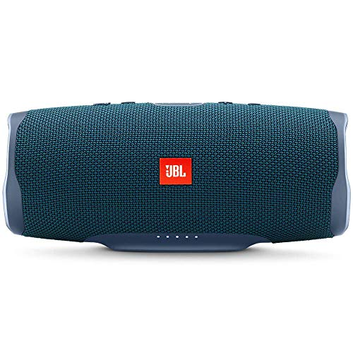 JBL Charge 4 Portable Waterproof Wireless Bluetooth Speaker – Blue (Renewed)