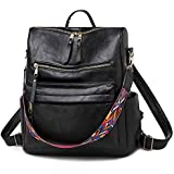 Women Fashion Backpack Purse, Convertible Daypack Colorful Strap Shoulder Handbags