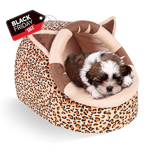 - CUPETS Pet House for Cat Dog with Warm Pet Bed Dairy Cattle Style Cave Shape Portable Indoor in Winter Pet Cave