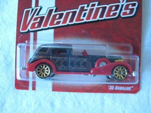 Hot Wheels Mattel 2009 Valentine's Cool Cars Metal 1:64 Scale Die Cast Car '35 Cadillac