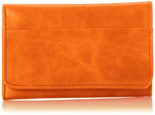 HOBO Vintage Jill Tri-Fold Wallet,Tangerine,One Size ()
