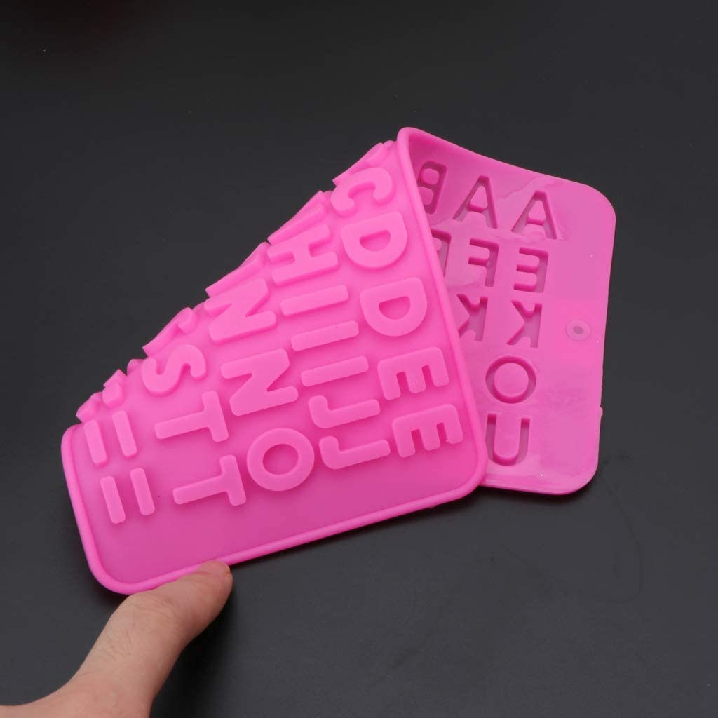 Lazder 26 Alphabet Letters Ice Cube Tray Silicone Mold Resin Jewelry Making Craft Tool