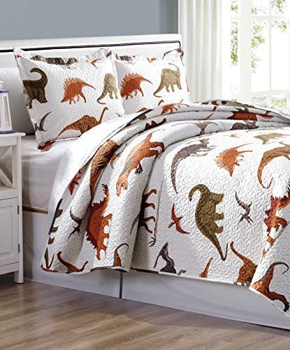 (Home & Main Velociraptor Boy's Quilt and Pillow Sham)