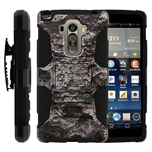 TurtleArmor | Compatible for LG G Stylo Case | LG Stylus Case | LG G4 Stylus [Hyper Shock] Combo Hybrid Armor Holster Belt Clip Case Hard Shell Stand Alien and UFO Set - Foreign Planet