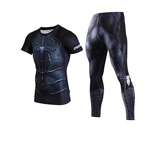 WENHUI Spiderman Impresión 3D Marvel Fitness Sportswear Avengers ...