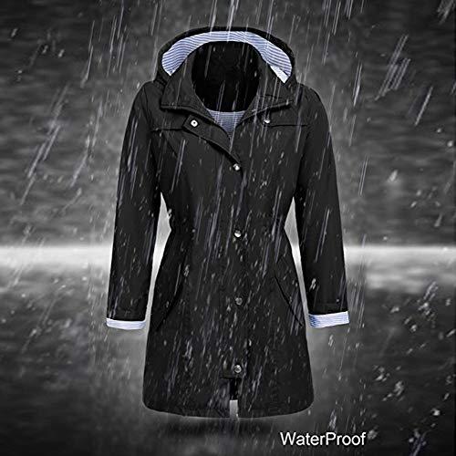 Outwear Antivento Donna Inverno Con Nero Moda Cappuccio Giacca Felpa Autunno ❤ Parka Donna Vicgrey Cappotto Impermeabile 7H4q4w