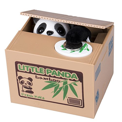 Bruins Piggy Bank (Parit Cute Panda Automated Stealing Coin Piggy Bank Money Penny Cents Saving Box Pot Kids Gift)