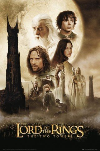 Click for larger image of Posters: The Lord Of The Rings Poster - Two Towers One Sheet (36 x 24 inches)