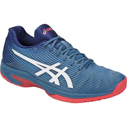(ASICS Mens Solution Speed FF Tennis Shoe, Azure/White, Size 9.5)