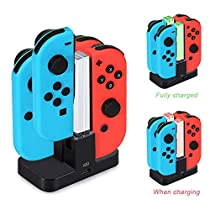 Diyife Charging Dock for Nintendo Switch Joy-Con Charging Station Controller Charger for Switch [Newest Version] 4 in 1 Charger Stand and Charging Holder with Individual LED Indicator