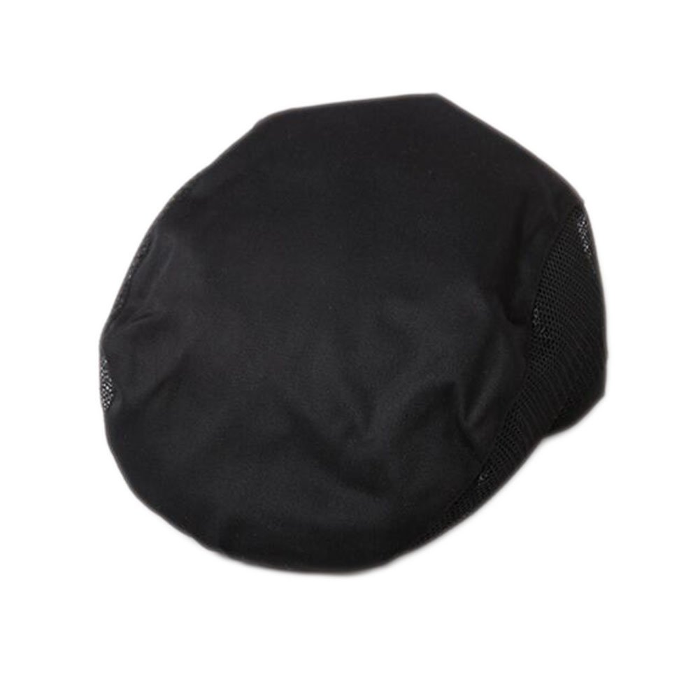 Fashion Cook Hats Hotel Cafe Breathable Mesh Chef Hats-Black
