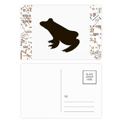 Fórmula de rana negra, bonito, animal, juego de postales de ...