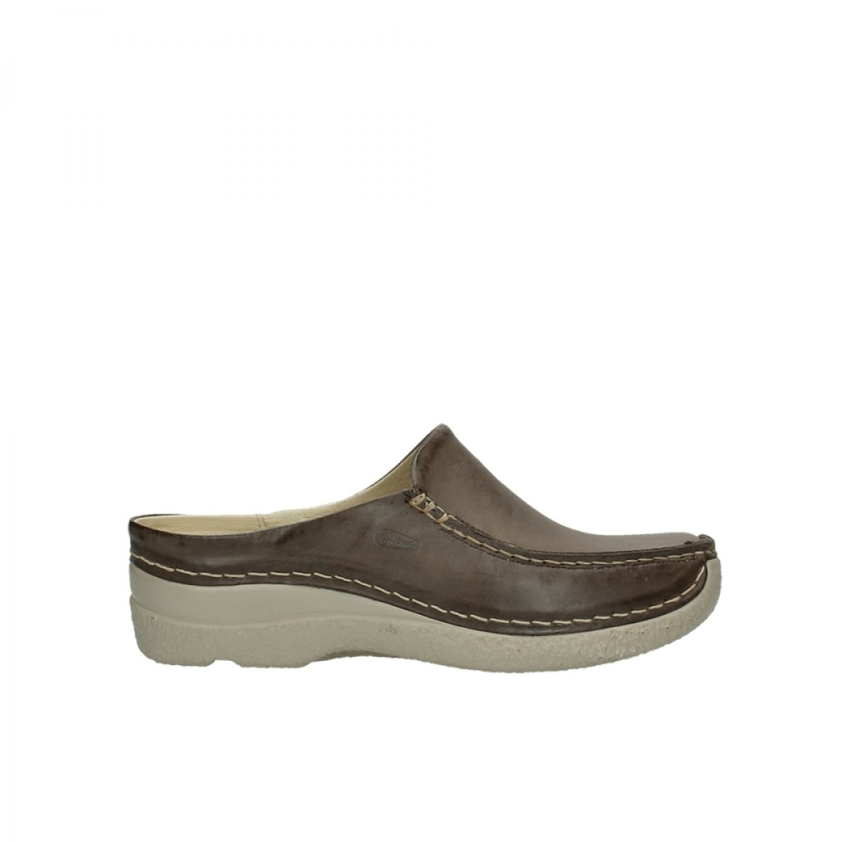 Grigio (315 taupe Leder) Wolky Seamy-Slide