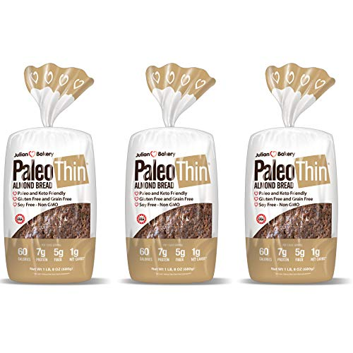 Paleo Bread (3 Pack) Low Carb, Gluten-Free, Grain-Free (1 Net Carb) (Almond)