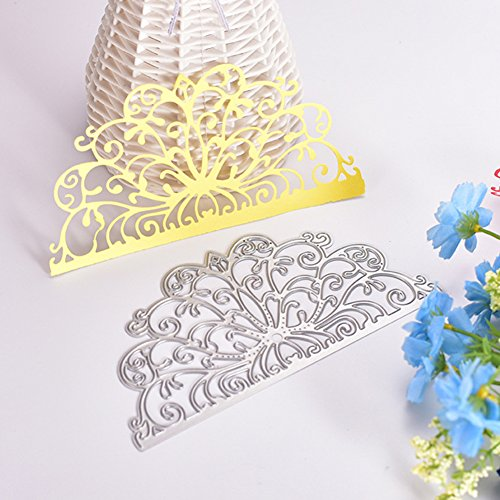Catnew DIY Die Cutting Dies Scrapbooking Card Making Invitation Card Lace Border