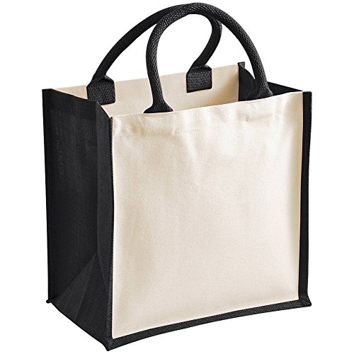 Westford Mill Printers Midi Jute Shopping Bag - 5 Colours Available