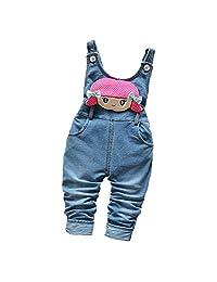 Kidscool Baby Girls Cotton Denim Cute Girl Soft To Wear Overalls
