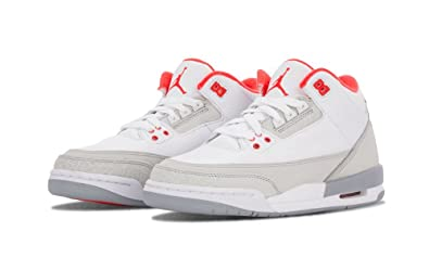 Nike Girls Air Jordan 3 Retro (GS) Big Kids WhiteCrimson-Natural