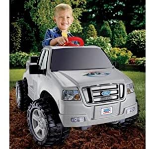 Fisher-Price-Power-Wheels-Silver-Ford-F-150-6-Volt-Battery-Powered-Ride-On