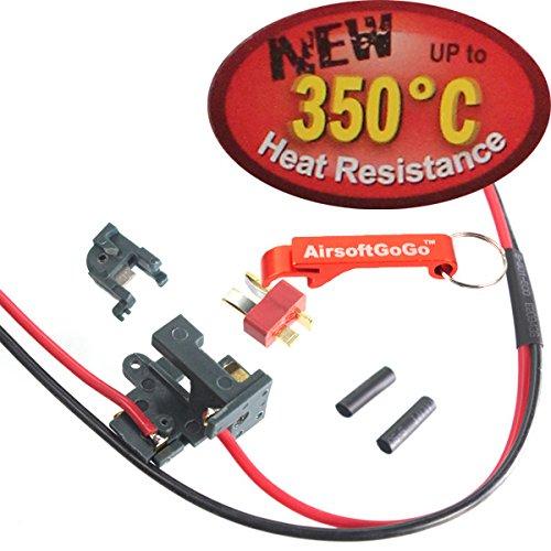 350 grados Heat Resistance Switch Ver.2 Gearbox (Frente) para Airsoft M4A1, M16 AEG - AirsoftGoGo Llavero Incluido DEEP FIRE