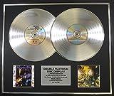 PRINCE/DOUBLE CD PLATINUM RECORD DISPLAY/LTD. EDITION/COA/PURPLE RAIN & SIGN O'THE TIMES