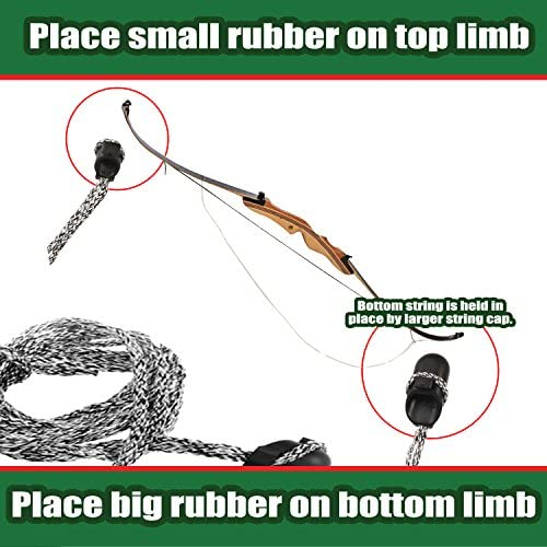 """Details about  /44-69/"""" Archery Bowstring Recurve Bow Stringer Longbow Install Rope Replace Tool"""