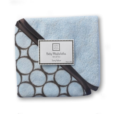 SwaddleDesigns Essentials, Set of 8 - Pastel Blue with Chocolate Brown by SwaddleDesigns (Image #7)