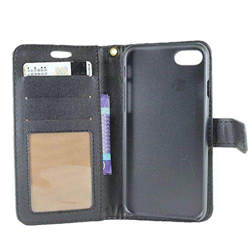 Hülle für iPhone 7 ,Schutzhülle Für iPhone 7 Krokodil Muster PU Ledertasche, ,cover für apple iPhone 7,case for iphone 7 ( Color : Black )