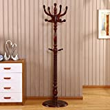 HOMEE European Creative Floor Solid Wood Coat Racks Bedroom Living Room Wooden Assembly Bag Hangers (6 Styles Available),#4