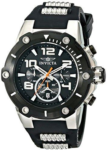 Men's 17202 Speedway Analog Display Japanese Quartz Black Watch
