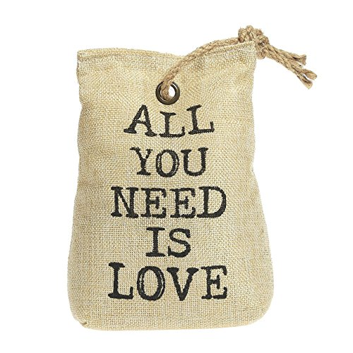 Doorstop Decorative - All You Need Is Love 2.2-Pound Heavy Novelty Floor Door Stopper, Natural (Door Stopper Sandbag)