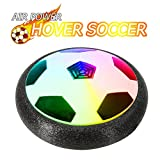 Hobbylane Hover Soccer Ball Kids Electric Football, Size 4 Disc Ball With LED Lights Foam Bumpers Indoors Outdoors Training Football with Parents Game As Hockey Ball Gliding Ball Kicking Play Ball