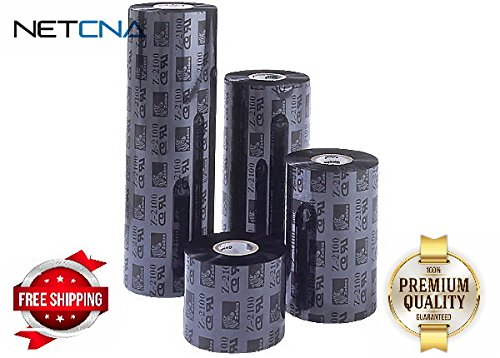 Wax/Resin Ribbon, 4.33inx1476ft, 5586 Premium, 1in core - By NETCNA (Resin 5586 Premium Wax Ribbons)