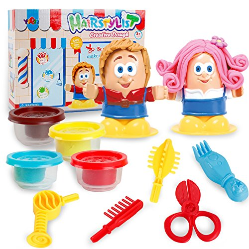 RONSHIN Children Funny 3D Hairdresser/BBQ Clay Set Toys PlasticineTool Kit