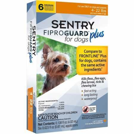 SENTRY Fiproguard Plus for Dogs, Flea and Tick Prevention for Dogs (5-22 Pounds), Includes 6 Month Supply of Topical Flea Treatments