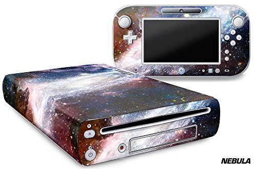 Designer Skin for Nintendo Wii U Console plus Controller Decal for: Wii U System – Nebula