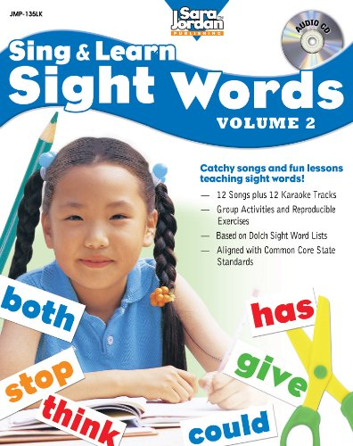 Sing and Learn Sight Words, vol. 2 (Book with Audio CD) by Sara Jordan Publishing